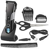 Sichler Men's Care Haarschneider: Akku-Haar- & Bartschneider mit LCD-Display, 1 bis 30mm,...