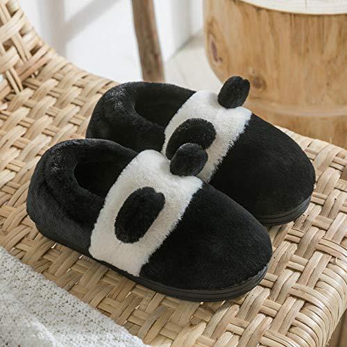 B/H Multi-función Zapatillas,Lindas Zapatillas de Felpa de algodón, Zapatos para el hogar cálidos de Interior-H_38-39,Talón Acolchado