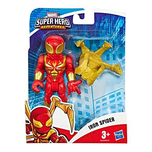 Hasbro Playskool - Marvel Super Hero Adventures-Iron Spider Mega Mighties Avengers Mini Figura Multicolor, 12,5 cm, E6259ES0