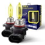 Biolight KM HB3 9005 ヘッドランプ/フォグランプ用ハロゲンバルブ [2500K 雨やスモッグの日に視認性の高い Yellow] 12V 60W 車検対応 1年保証 2個入(9005 YE)