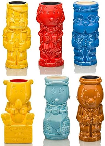 Popeye Max 72% OFF Ceramic Geeki Tiki Mugs Set Many popular brands 6 of