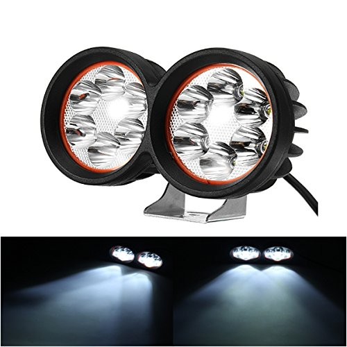 ILS 12-80V 1000lm 40W motor Bike koplamp Bicycle ATV Spotlight Black White