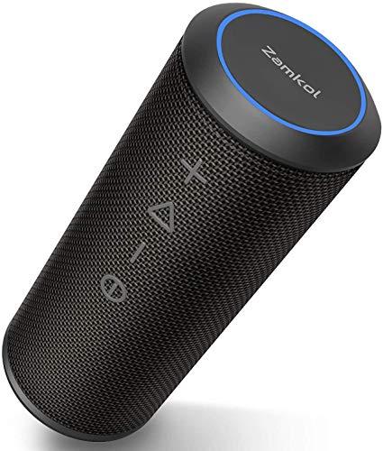 Zamkol Tragbare Bluetooth-Lautsprecher, Außen-Lautsprecher (Negro 2)