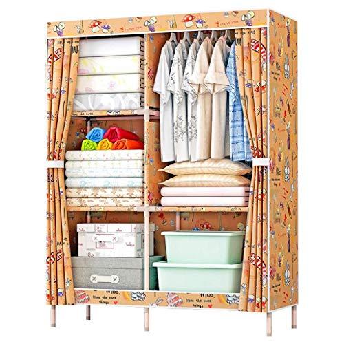 CENPEN Armarios de tela plegable Asamblea Armario almacenaje de la ropa lavada Armario doble de tela Oxford Locker