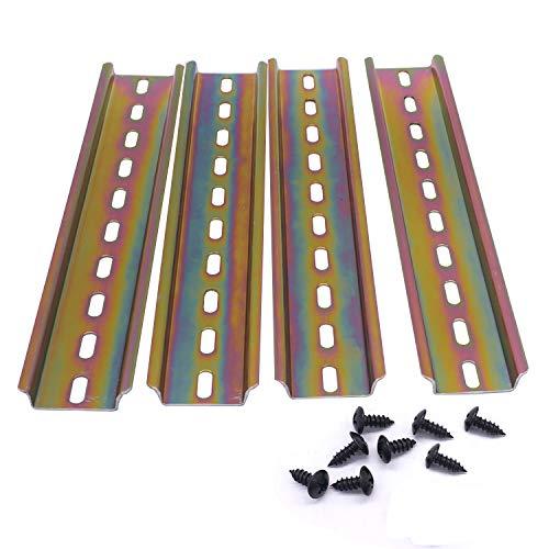 Taiss/4 Stücke 20cm hutschiene hochwertigem Farbe Stahl, DIN-Schiene für Verteilerschrank Schaltschrank, 35mm breit, 7,5mm hoch, lang 200mm/8