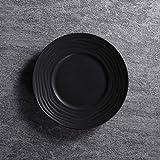Jkckha. Ceramica Cappello di paglia Ins da tavola prima colazione semplice occidentale posate Piatto Fondo 8,5 pollici