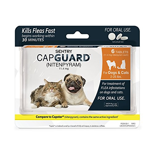 SENTRY Capguard (nitenpyram) Oral Flea Control Medication, 2-25 lbs, 6 count