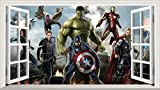 Chicbanners Marvel Avengers V301 Sticker Mural Autocollant 3D Motif fenêtre 1000 mm x 600...