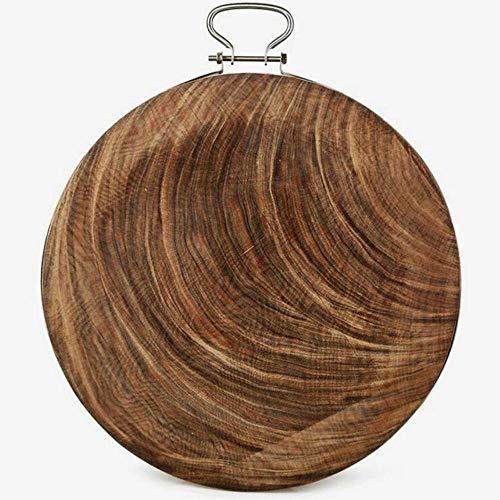 Madera maciza Tabla de cortar de cocina de madera de hierro de una pieza Tabla de cortar Madera de grado superior