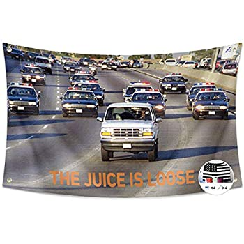 Probsin The Juice is Loose Flag 3x5 Feet Banner,Funny Poster UV Resistance Fading & Durable Man Cave Wall Flag with Brass Grommets for College Dorm Room Decor,Outdoor,Parties,Gift