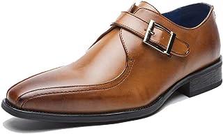 [Agogoo] 革靴 メンズ ビジネスシューズ 紳士靴 メンズシューズ モンクストラップ オールシーズン 高級 クッション性 通気 滑り止め 通勤