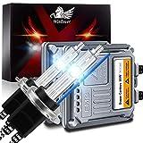 WinPower H7 Kit Conversión Faros Delanteros Bombilla Xenón 55 W con Decodificador CANBus HID Lastre 8000K Azul Hielo Alto Brillo Haz alto/Haz bajo, 2 Piezas