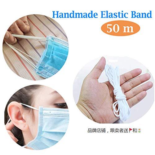 Mask Bedspread CUMUO 100 Yards Length 1//4 Inch Width Braided Elastic Band White Elastic Cord Heavy Stretch High Elasticity Knit Elastic Band for Sewing Crafts DIY Cuff