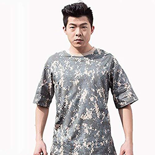 Noga T-shirt à manches en S respirant 100 % coton, Camouflage Acu, xxl