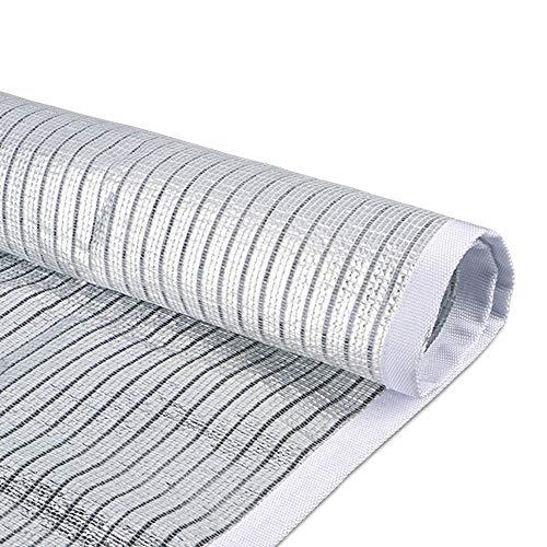ANHPI Filet d'ombrage Couvre-sol Feuille d'aluminium Isolation thermique Tarp Shelter Bâche Polyéthylène Crème solaire Refroidir Balcon sur le toit extérieur (Size : 4M*4M)