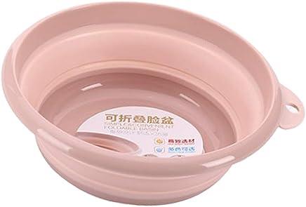 Baoblaze Multi-Purpose Collapsible Tub, Round Portable Washing Basin,Foldable Dish Tub, Space Saving Plastic Washtub,12.6 inch Diameter - Pink