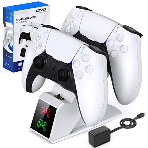 OIVO PS5 Controller Ladestation, PS5 Ladestation mit 2-Stunden-Ladechip und EU-Stromstecker, PS5 Ladegerät Docking Station für Sony Playstation 5 Wireless Controller