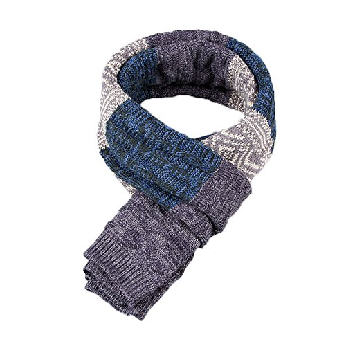 Tuopuda Sciarpa Uomo Inverno Uomo Inverni scialle Maglia Scialle Caldo, Invernale Sciarpa Caldo Stola Uomo (blu)