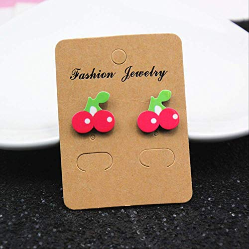Oorbellen Holiday Jewelry Rose Watermelon Cherry Stud Oorbellen voor vrouwen en meisjes Creative Art Fruit Plants EarringStyle 4