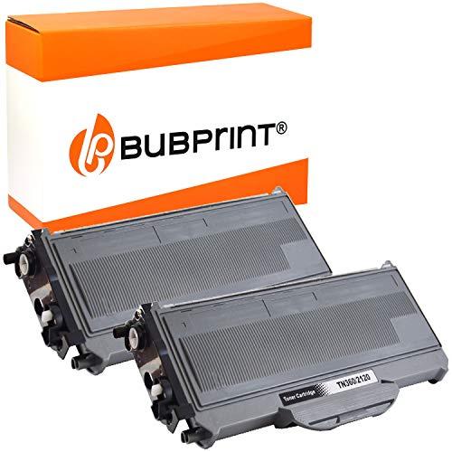 2 Bubprint Toner kompatibel für Brother TN-2120 für DCP-7030 DCP-7040 DCP-7045N HL-2140 HL-2150N HL-2170 HL-2170W MFC-7320 MFC-7340 MFC-7440N MFC-7840W Schwarz