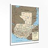 HISTORIX Guatemala-Karte Poster – Mapa de Guatemala –
