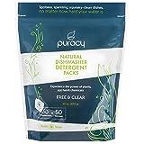 Puracy Platinum Dishwasher Detergent Pods, 50 Count, Natural...
