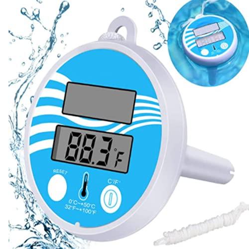 Termómetro solar flotante Joycabin para piscina, fácil de leer y resistente a los golpes, para todas las piscinas, spas, jacuzzis y estanques
