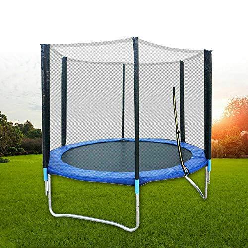 sujrtuj Cama elástica de jardín de 183 cm, para regalo, color azul, con red de seguridad, carga hasta 300 kg