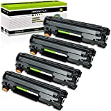 GREENCYCLE 4 PK Compatible Black Laser Toner Cartridges CE278A 78A for HP Laserjet P1606dn P1566