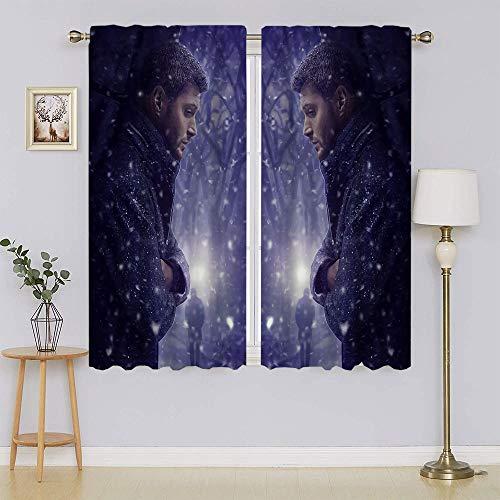 Supernatural TV Series Dean & Sam Winchester Poster Cortinas opacas, aislamiento térmico, cortinas de ahorro de energía para sala de estar, dormitorio de 42 pulgadas de ancho x 54 pulgadas de largo