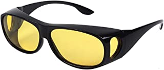 HD Night Day Vision Driving Wrap Around Anti Glare Sunglasses with Polarized Lens for Man and Women
