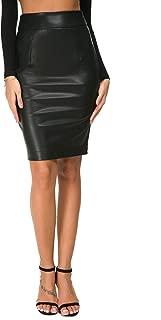 Best faux leather high waist pencil skirt Reviews