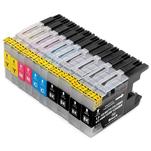 ESMOnline 10 komp. Druckerpatronen für Brother MFC J430W J625DW J725DW J825DW J925DW J5910DW J6510DW J6710DW J6910DW (LC1220/LC1240/LC1280)