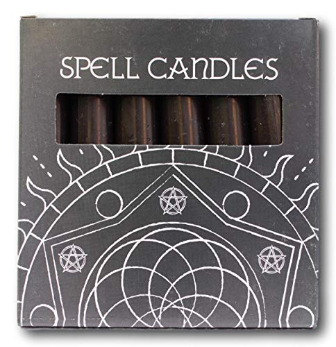 Pack de seis velas negras para altar/pell