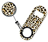BarConic Mini Opener with Retractable Reel - Orange Cheetah