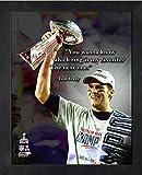 Foto Tom Brady New England Patriots ProQuotes, gerahmt,