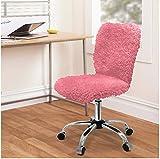 Urban Shop Faux Fur Task Chair, Pink