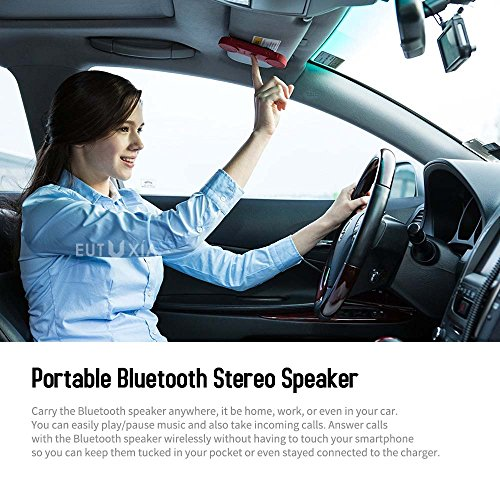 Red Shield Wireless Bluetooth Speaker Loud Clear Stereo Sound 15hrs Playtime Built In Mic Portable Handsfree Handset Phone Calls Music Great For Car Home Office Outdoor Indoor Black Buy