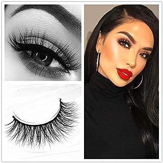 Miss Kiss Brand Eye Lash Mink Hair 3D Lashes Natural Style Makeup Strip Eyelashes 100% Siberian Fur Fake Eyelashes Hand-made False Eyelashes 1 Pair Package Case (3D04)