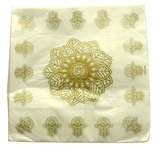 Fetez moi - 20 serviettes de tables orientales 3 plis (33 x 33 cm)