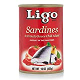 Sardines in Tomato Sauce with Chili Added (Spicy) - 5.5oz [Pack of 6]