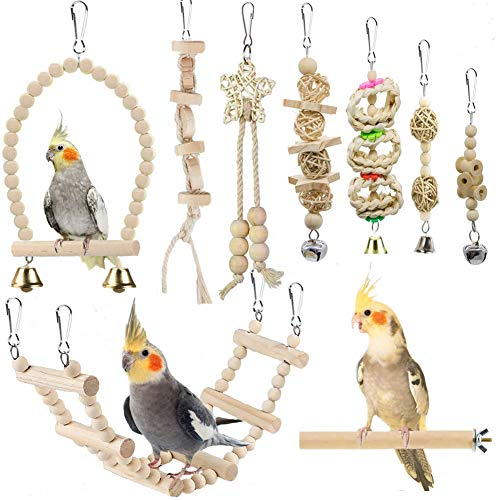 Bird Parrot Swing Toys, Chewing Sta…
