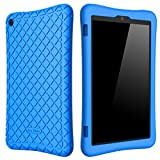 Bear Motion Silicone Case for Fire HD 8 2017/2018 - Anti Slip Shockproof Light Weight Kids Friendly Protective Case for...