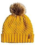 Roxy Blizzard-Bonnet avec Pompon pour Femme, Spruce Yellow, FR Fabricant : Taille...