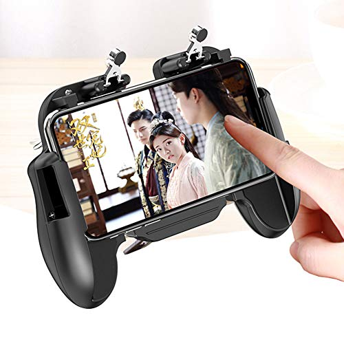 FSGD Mobile Game Controllers Gamepad Sensitive Shoot Aim Joysticks Physical Buttons L1R1 Ergonomic Design Handgrip Game Triggers for Knives Out/PUBG/Rules of Survival/Epic Games