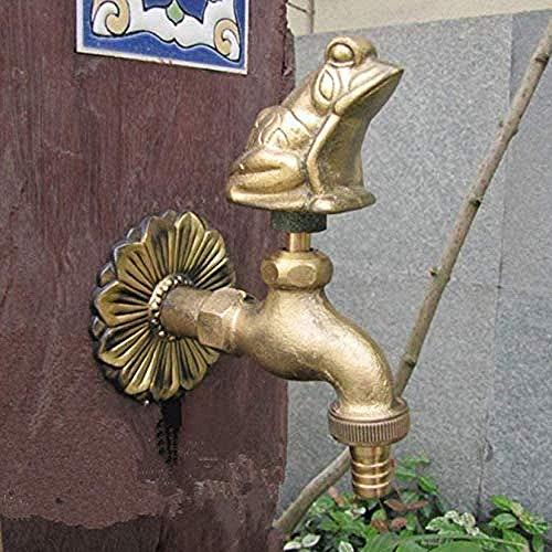 Grifo de jardín con forma de animal al aire libre, fregona de lavado de rana de bronce / grifo de riego de jardín