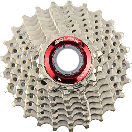 BOLANY 9 Speed Cassette,MTB Cassette 9 Speed, Fit for Mountain Bike, Road Bicycle, MTB, SRAM, Shimano (Silver 11-25T)