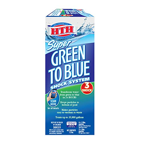 HTH 52032 Super Green to Blue Shock System for Swimming Pools, 7.2 lbs -  Innovative Water Care