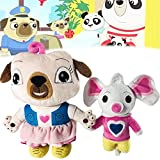 7/11.8 inch Chip and Potato Plush Toys,Potato Mouse Plushies Soft Stuffed Doll for Birthday Gifts (Pug Dog+Mouse)