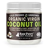 Raw Paws Organic Virgin Coconut Oil for Dogs & Cats, 16-oz -...